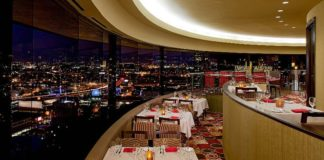 Downtown Houston Views spindletop revolving restuarant