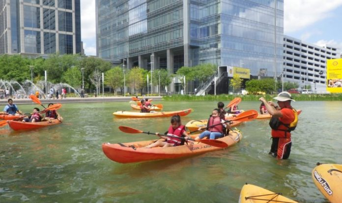 Discovery Green Houston Downtown Park Kayaks