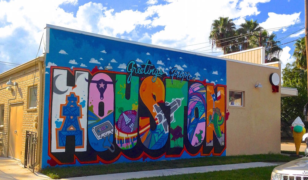 Greetings from houston mural location 365 houston for Call for mural artists 2014