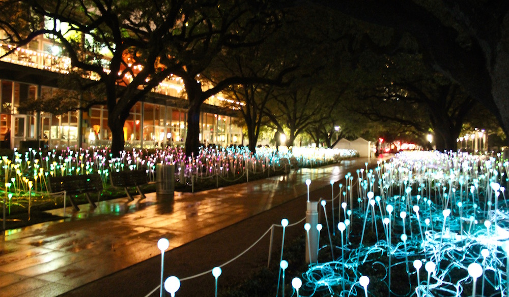 field of light at discovery green 365 houston