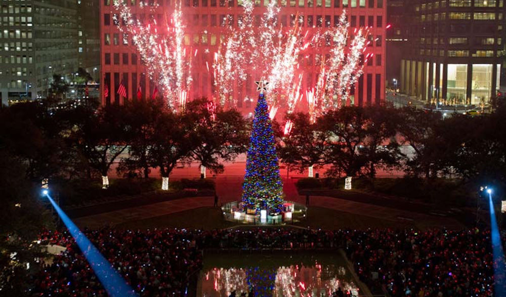 98th annual mayors holiday celebration tree lighting at city hall - Christmas In Houston 2015