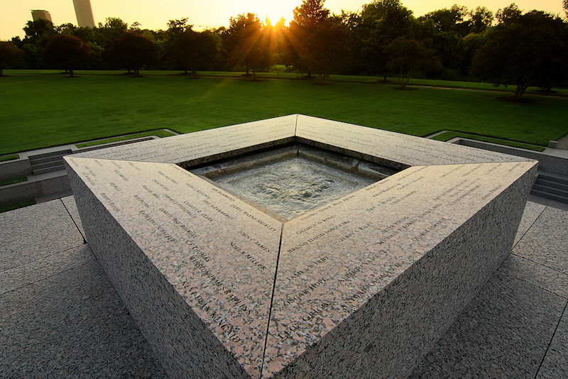 houston police officers memorial reflecting pool