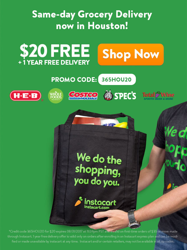 Get 20 In Free Groceries Delivered By Instacart 365 Houston