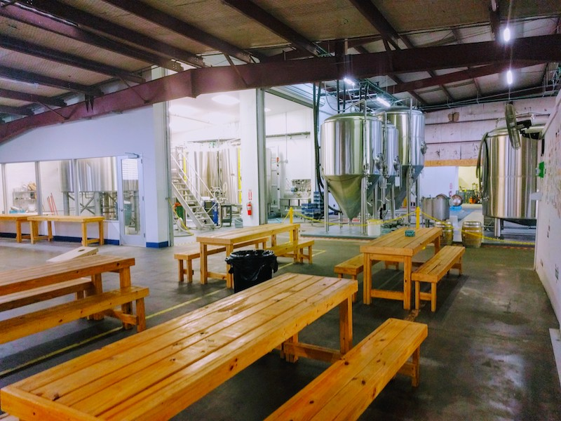 Eureka Heights Brew Co Tables Fermenters