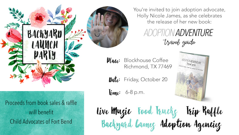Adoption Adventure Backyard Launch Party