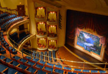 Tiers of Seating and Founders' Boxes face the painted curtain by Earl Staley and Peter Horn -the-grand-1894-opera-house