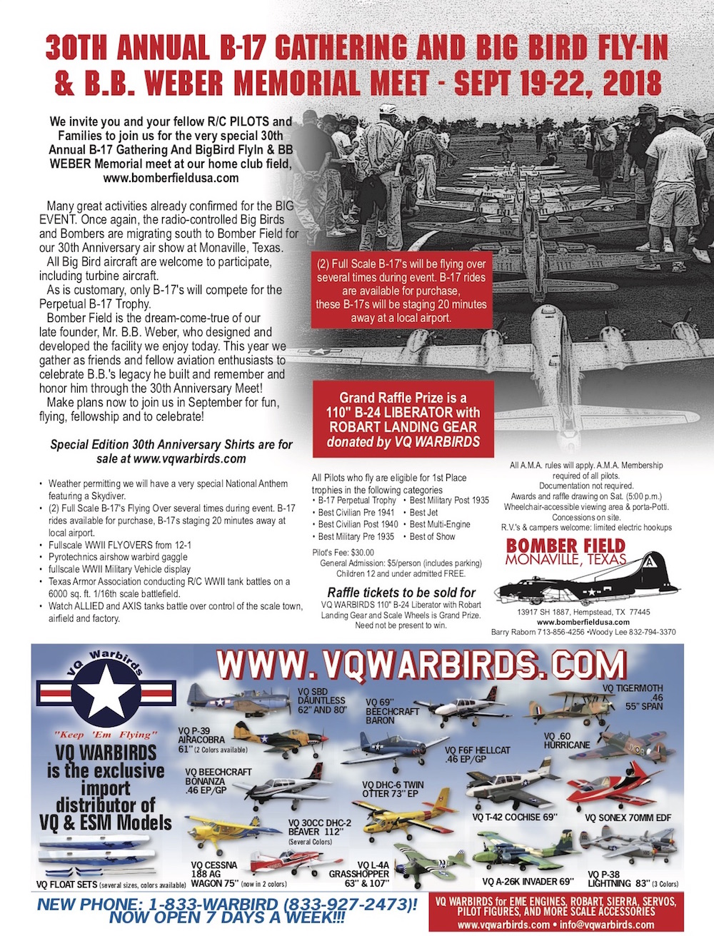 30th Annual B-17 Gathering & BB Weber Memorial Fly-In at Bomber Field | 365  Things to Do in Houston
