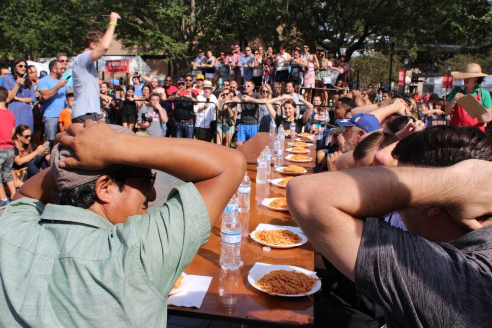 houston-italian-festival-festa-italiana-2018-pasta-eating-contest