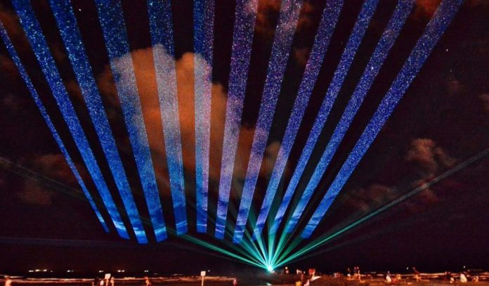 Lasers & Lights in Downtown Galveston's