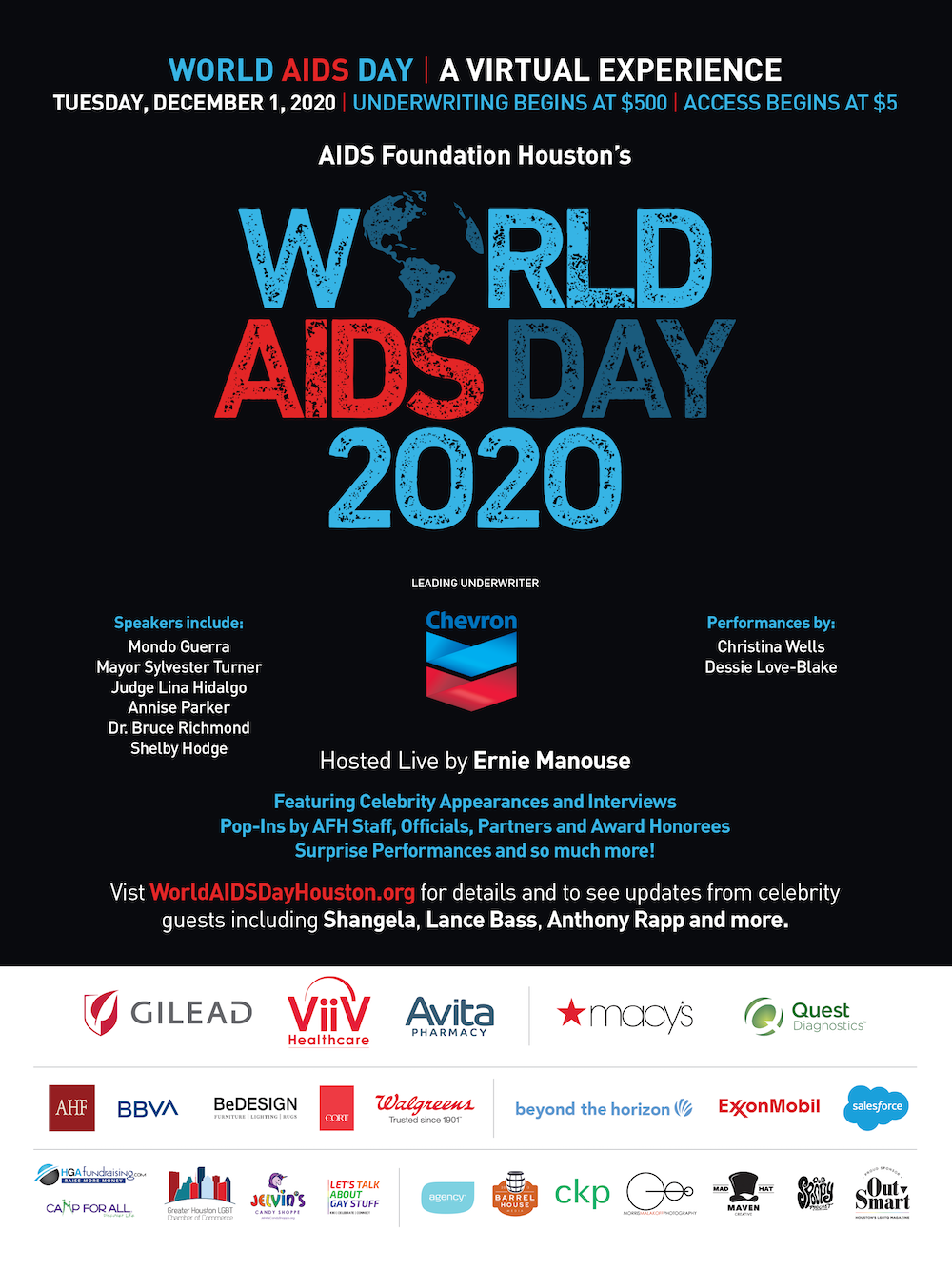A flier for the World AIDS Day 2020 virtual event